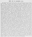 M. W. Gilbert, D. D. [verso]