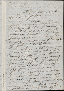 Letter from Charles F. Hovey, Paris, [France], to Mary Anne Estlin, 1854 March 7