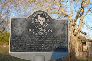 Texas Historical Commission Marker: Old Town of Cannon
