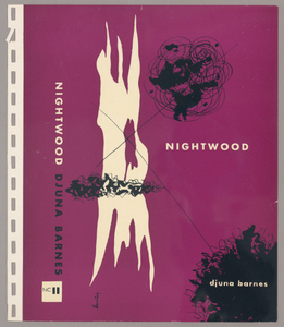 """Bookjacket by Alvin Lustig for """"Nightwood"""" by Djuna Barnes, New Directions Books"""