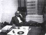Al Sears at desk