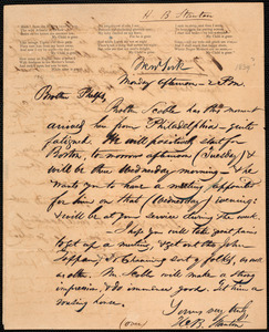 Letter from Henry Brewster Stanton, New York, to Amos Augustus Phelps, [1839?]