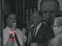 WSB-TV newsfilm clip of Georgia governor Ernest Vandiver speaking to reporters about the civil rights movement in Albany, Georgia from a press conference in Atlanta, Georgia, 1962 July 30