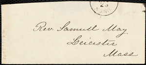 Memorandum and notes from Samuel May, Jr., [1858?]