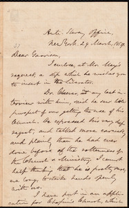 Letter from Oliver Johnson, New York, [N.Y.], to William Lloyd Garrison, 29 March, 1859