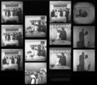 Set of negatives by Clinton Wright including Shirley Clark-Terry's wedding, Garland and Mary Davis, and a school picture, 1967