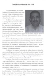 Researcher of the Year, 2004