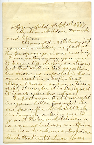 Letter from Aldin Grout to Frank Hugh Foster