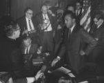 Stokes, Carl 1968 02-15-1968, with reporters