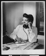 Fannie E. Benjamin, organist and mortician, circa 1941/1950, Los Angeles