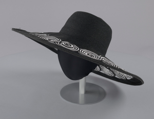 Black and white sun hat from Mae's Millinery Shop