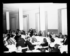 Lincoln U. Alumni Dinner Mar 1955 [from enclosure] [black-and-white cellulose acetate photonegative]