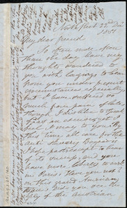 Letter from Esther Sturge, Northfleet, [England], to Maria Weston Chapman, 22nd Dec. 1851