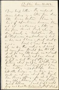 Letter from Richard Davis Webb, Dublin, [Ireland], to Mary Anne Estlin, 1852 Dec[ember] 24