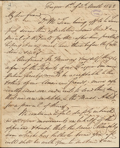 Letter from William Smeal, Glasgow, [Scotland], to William Lloyd Garrison, 1842 [February 1]