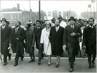 SCLC leaders marching