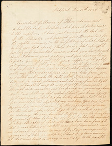 Letter from George Gay, Medford, [Massachusetts], to William Lloyd Garrison, 1837 Dec[ember] 19th