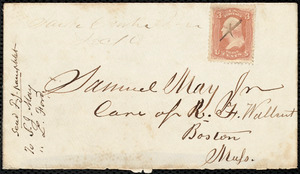 Letter from Lewis Ford, Sauk Centre, [Minnesota], to Samuel May, Jr., Dec. 10th, 1861