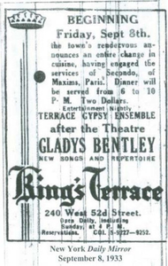 Gladys Bentley at the King's Terrace