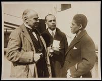 Walter Damrosch, James Weldon Johnson. Bon voyage to Roland Hayes, his first recital tour abroad