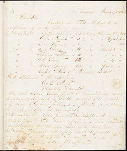 Letter from Henry Egbert Benson, Providence, [Rhode Island], to William Lloyd Garrison, 1833 March 23d