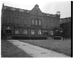 "Exterior of Prince Hall mason hall, ""Home of Roman's Clothes"""