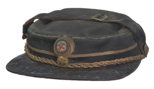 Hat with an emblem for a fraternal organization