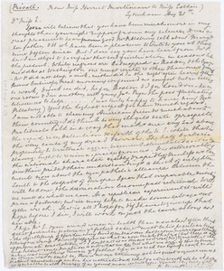Letter from Harriet Martineau, Sydenham, [England], to Mary Anne Estlin, August 21