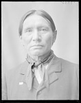 Front view of Fred Lookout, Osage Chief 1904
