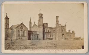 Carte-de-visite of the Smithsonian Castle