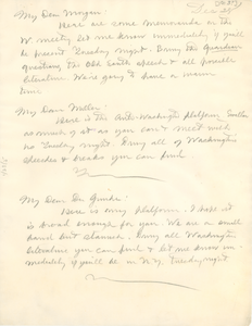Letter from W. E. B. Du Bois to Clement Morgan