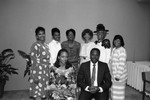 Black Women Lawyers Association event attendees posing for a group portrait, Los Angeles, 1987