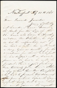 Letter from Richard Plumer, Newburyport, [Mass.], to William Lloyd Garrison, Feb[ruary] 12th 1865