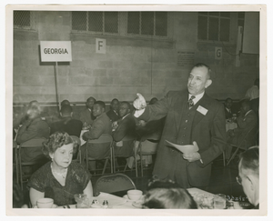 Photograph of Eugene Martin, Atlanta Life Insurance Company reception