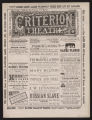 Criterion Theatre, Various acts (November 20, 1882) Various acts; Marvels of Peru; Russian slave