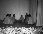 African American women in a Christmas pageant at Julia Tutwiler Prison for Women in Wetumpka, Alabama.
