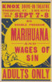 Knox Drive-In Theaters feature film, Marihuana and Wages of Sin