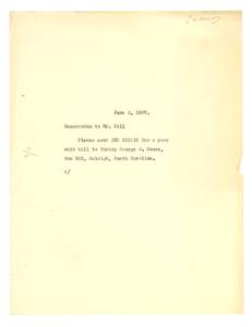 Memorandum from W. E. B. Du Bois to A. G. Dill