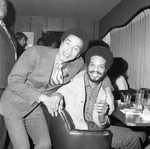 Smokey Robinson and Roland Bynum at a party, Los Angeles, 1971