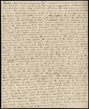 I dispatched a letter to you my dear Deborah, this afternoon... [manuscript]