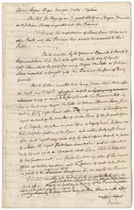 Act for imposing a duty on the importation of slaves into Massachusetts (draft), [April 1767]