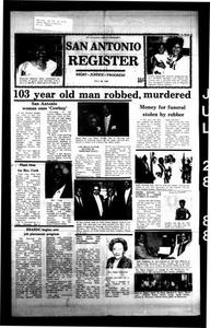 San Antonio Register (San Antonio, Tex.), Vol. 56, No. 16, Ed. 1 Thursday, July 28, 1988