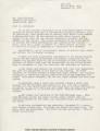 Mothers League Letter to Jess Matthews