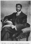 The Hon. C.D.B. King, when Secretary of State