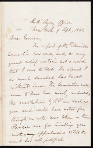 Letter from Oliver Johnson, New York, [N.Y.], to William Lloyd Garrison, 9 Sept[ember], 1862