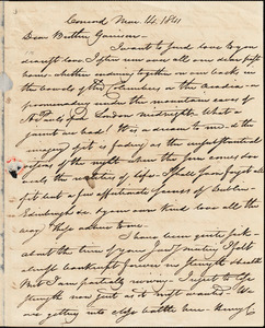 Letter from Nathaniel Peabody Rogers, Concord, [New Hampshire], to William Lloyd Garrison, 1841 Mar[ch] 14