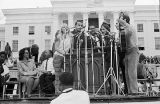 Entertainers performing in front of the Capitol in Montgomery, Alabama, at the conclusion of the Selma to Montgomery March in Montgomery, Alabama.