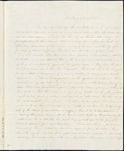 Letter from Susan Taber, New Bedford, [Massachusetts], to Deborah Weston, 1841 [March] 8