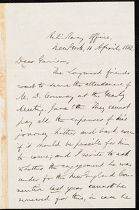 Letter from Oliver Johnson, New York, [N.Y.], to William Lloyd Garrison, 11 April, 1862