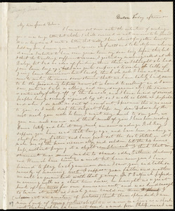 Letter from Sylvia Ann Ammidon, Boston, [Mass.], to Deborah Weston, Friday afternoon